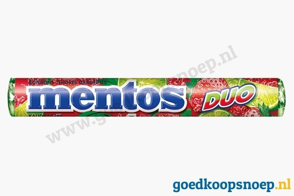 Mentos Duo Strawberry Lime - goedkoopsnoep.nl - snoeprollen