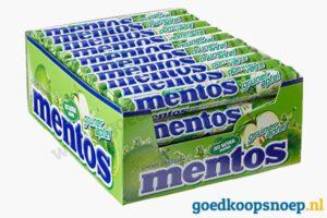 Mentos Groene Appel 40-pack - goedkoopsnoep.nl - snoeprollen