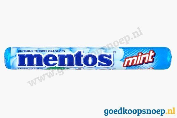 Mentos Mint - goedkoopsnoep.nl - snoeprollen