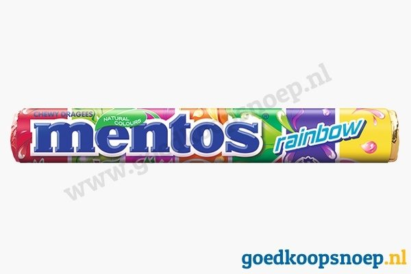 Mentos Rainbow - goedkoopsnoep.nl - snoeprollen