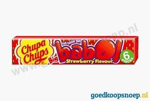 Chupa Chups Babol Gum Aardbei - www.goedkoopsnoep.nl