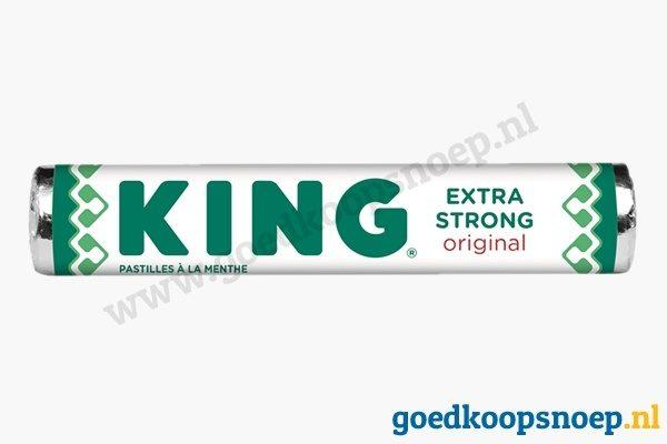 KING Extra Strong pepermunt 4-pack - goedkoopsnoep.nl
