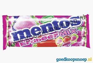 Mentos Aardbei Mix | www.goedkoopsnoep.nl