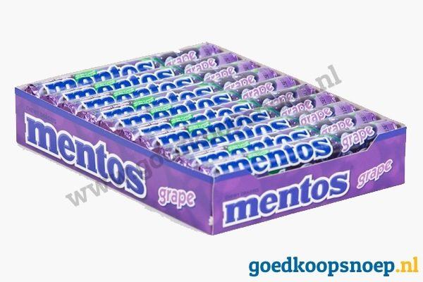 Mentos Grape 20-pack - www.goedkoopsnoep.nl
