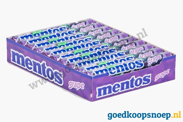 Mentos Grape 20-pack - www.goedkoopsnoep.nl