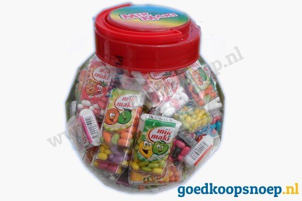 Mik Maki mix - tictac alternatief - kids mix - goedkoopsnoep.nl - pot van 70 doosjes