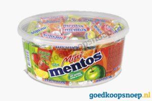 Mentos Mini rolletjes 48 stuks Silo - www.goedkoopsnoep.nl