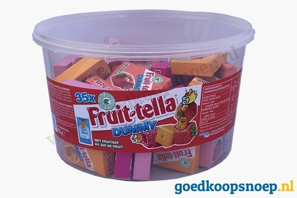 Fruittella Dummy's 35 stuk Dummy Mini Silo Kids - goedkoopsnoep.nl - snoeprollen