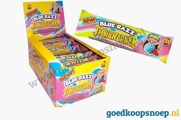 Jawbreaker Blue Razz - 40-pack - www.goedkoopsnoep.nl