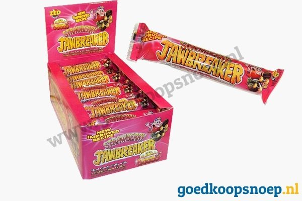 Jawbreaker Strawberry - 40-pack - www.goedkoopsnoep.nl