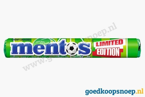 Mentos Green Fruit Mix - goedkoopsnoep.nl - snoeprollen