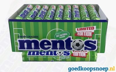 Nieuw! Mentos Green Fruit Mix