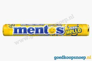 Mentos Say Hello Lemonade Emoticons - goedkoopsnoep.nl - snoeprollen goedkoop snoep - snoeprollen actie