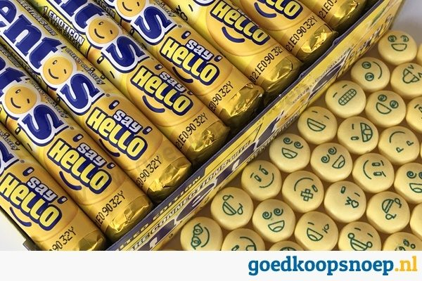 Mentos Say Hello Lemonade Emoticons - goedkoopsnoep.nl - snoeprollen goedkoop snoep - snoeprollen actie - 40-pack