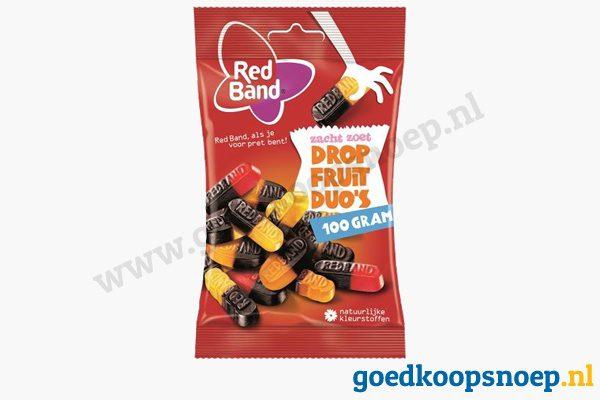Red Band drop fruit duos 100 gram - goedkoopsnoep.nl