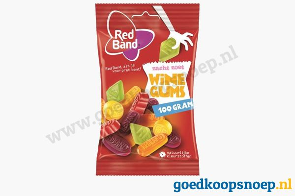 Red Band winegums 100 gram - goedkoopsnoep.nl